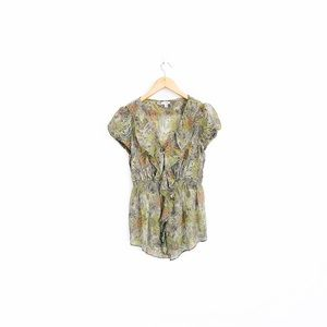 Anthropologie Odille Wind Tossed Blooms Blouse
